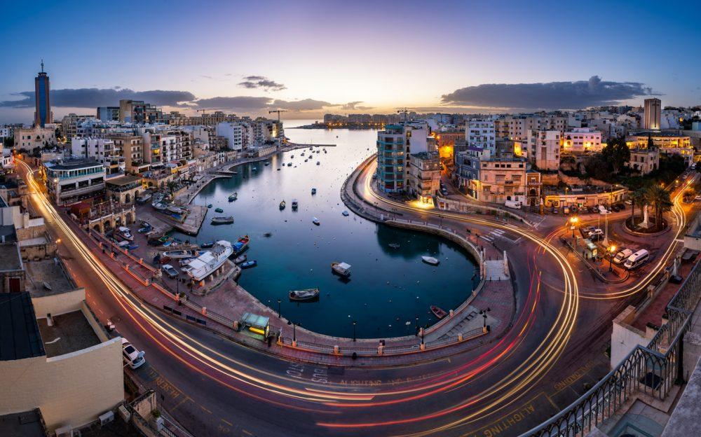 Malta na zonsondergang