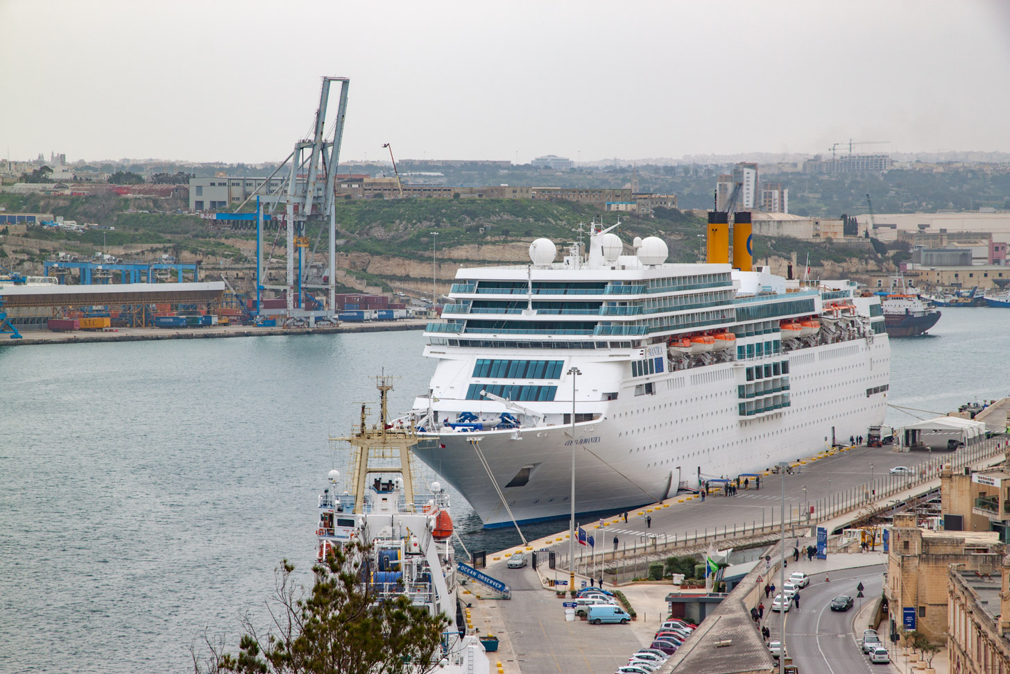 cruiseschip in Valletta